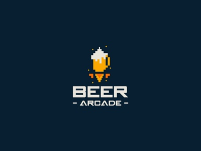 Beer Arcade videogames video game pixel art pixel perfect pixel pixelart 8bits arcade game arcade beer branding illustration daily logo design daily logo challenge branding designer logo a day logo logotype logotypedesign branding design branding