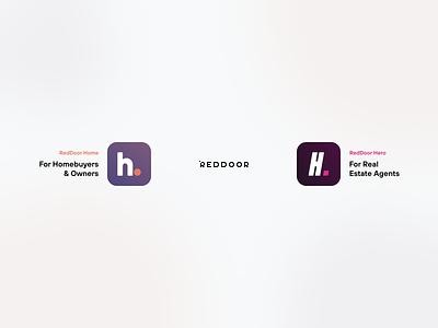 RedDoor Products app store app agents real estate mortgage design logotipo branding logo