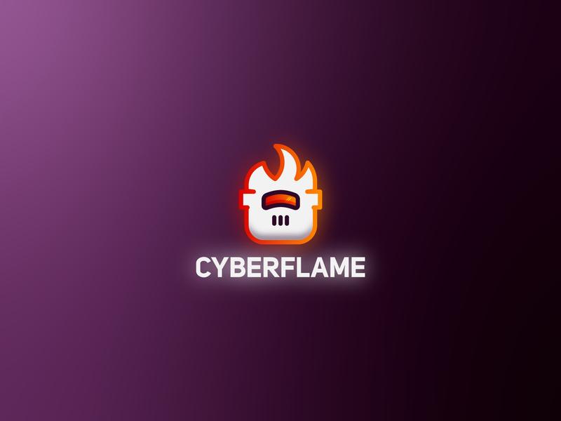 Cyberflame cyberpunk cyber technology tech logo graphic  design daily challange daily logo design daily logo challenge daily logo graphic design concept logo a day logo branding designer branding design brand logotypedesign logotype logotipo branding
