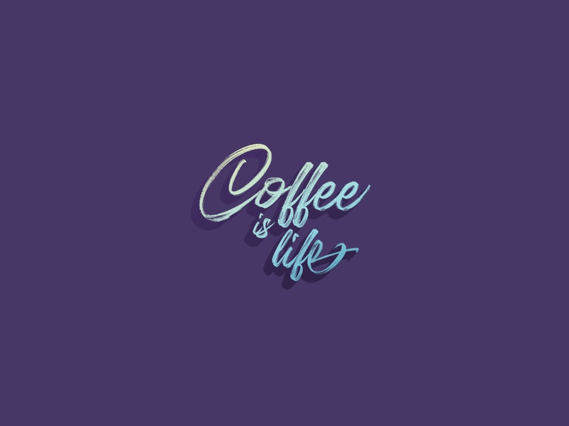 Coffee is Life. Simple 😉 typography coffee shop coffee daily lettering handlettering hand lettering daily logo daily challange dailylogochallenge illustration concept logo a day design lettering letter logotypedesign logotype branding