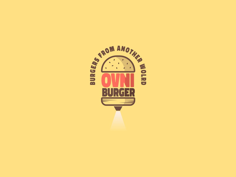 OVNIBURGER - Burger Joint burger flyer hamburgers food app burgers food branding food brand hamburger ovni burger logo daily logo challenge daily logo design daily logo logo a day logo logotype logotipo logotypedesign branding design branding