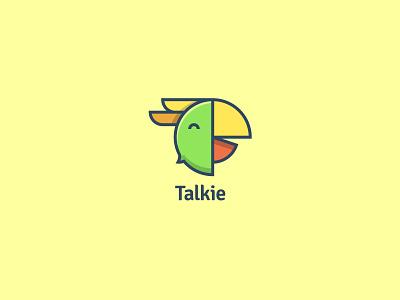 Talkie Social Media Website flat design flat logo design flat logo social media branding social media social network parrots parrot logo flat illustration illustration daily logo challenge branding designer logo a day brand logo logotype logotipo logotypedesign branding design branding