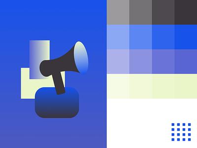 Quick Branding Exploration shapes color modern graphic design colors branding illustration gradient