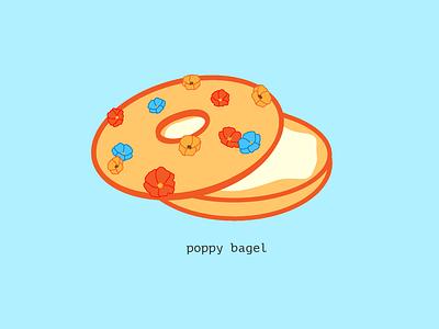 Poppy Bagel floral poppy illustration