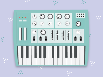 Synth Illustration electronic instrument design music synth keyboard piano illustration