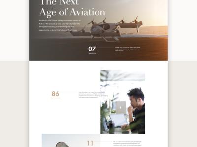 Aerospace Website Vignette