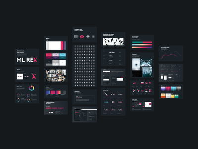 Design System portal interface design dark interface dark ui darkmode law lawfirm design system styleguide ux design graph color block data branding ui design visual design