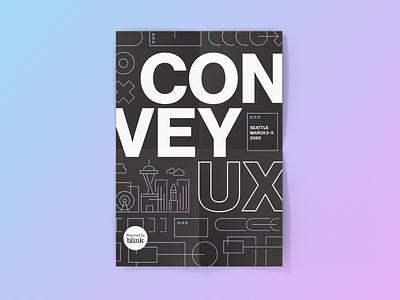 ConveyUX Conference Branding seattle printed material postcard conference logo conference logo illustration branding design visual design