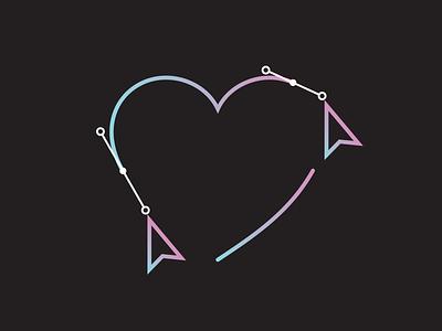 Valentine's Day Promo heart valentines marketing campaign conference marketing icon vector logo illustration design branding visual design