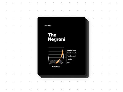 Negroni typography uxdesign ux card design graphic design print design recipe design recipes bartender recipe infographic illustration design branding visual design