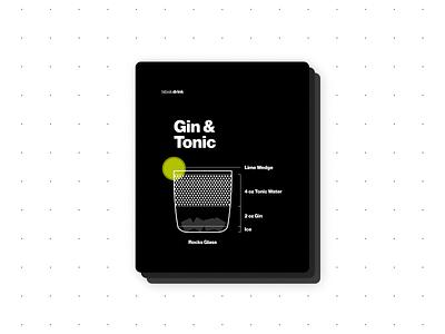 Gin & Tonic print design graphicdesign graphic infographics drink design bartender recipe design recipe typography ux illustration branding visual design