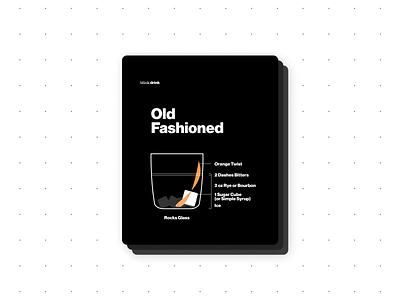 Old Fashioned infographics recipe design recipe card design bartender print design graphicdesign infographics design ux illustration branding design visual design