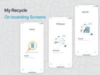 On boarding Recycle app Screen