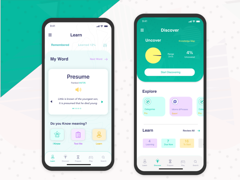 Redesign for Up word App Screen