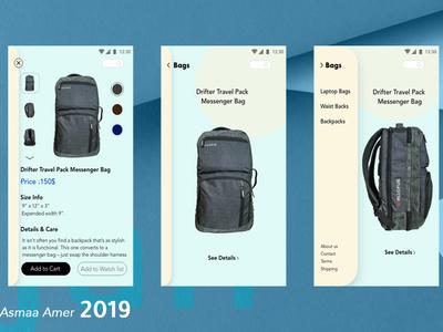 E-commerce Backpack app