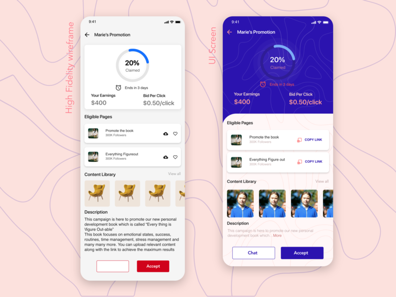 Redesign promoters app