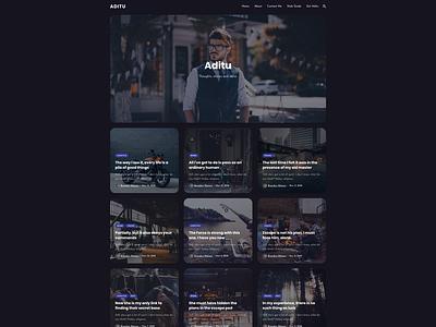 Aditu – Stylish Dark Theme for Jekyll blog design design typography dark dark theme blog jekyll