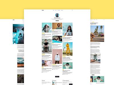 Hally – minimal blogging theme for Jekyll web design blog logo website typogaphy design personal blogging