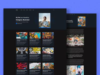 Atega – Creative personal blog theme (Dark Style) website web design typogaphy logo personal blogging blog design