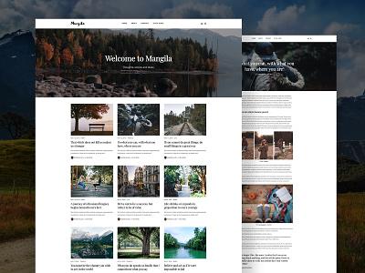 Mangila – Minimalistic Blog Theme for Jekyll blog design personal typogaphy web design design website logo jekyll blogging blog