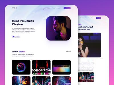 Avenco – Portfolio Theme for Jekyll website branding blogging portfolio site blog portfolio personal logo typogaphy jekyll design web design