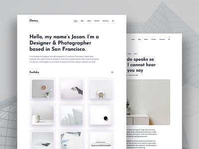 Clancy – Personal Portfolio Theme ux ui blog design dark theme typogaphy design website personal blogging logo blog web design