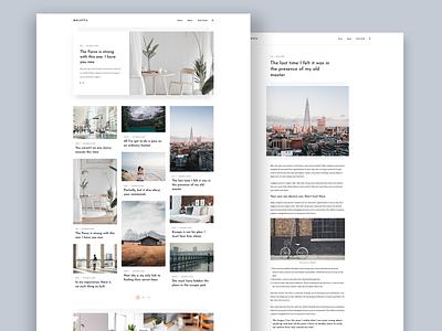 Melotta Blog Theme ux  ui typogaphy page website graphics jekyll blog design design