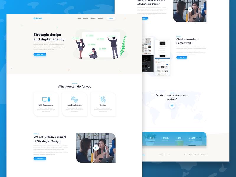 Balanis - Landing Page web design branding minimal agency website design landing page