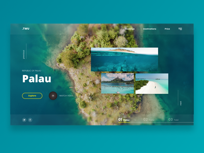 Palau - Landing page Web UI interaction design blur gradiant user interface user experience ui web design branding concept design web design landing page