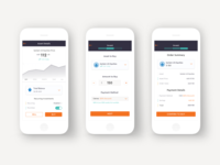 mobile investing app transactional UI