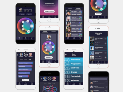 Connect people through music-UX case study case study music app user experience design ux