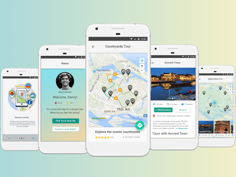 DIY bicycle tour guide - UX case study app as a service travel case study cycling app user experience design ux