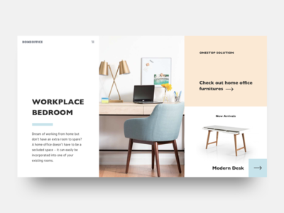 Design exercise - visual hierarchy pastel scandinavian above-the-fold web design furniture minimalist
