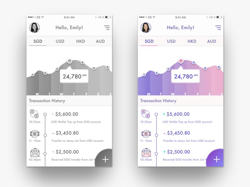 Koku app visual contrast