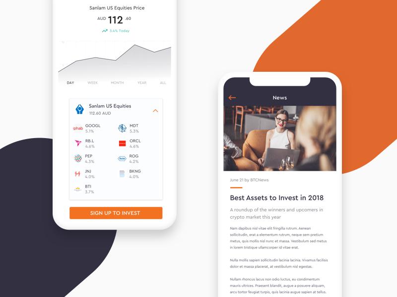 Crypto Investing Mobile App trading fintech interface design stock trading data ui mobile app investing crypto trading crypto