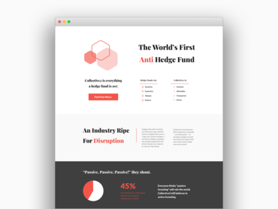 Minimalist about page web design bold colors abstract investing app fintech minimalist web ui about page