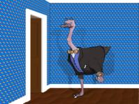 Ostrich, Pocket watch