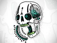 skull scribbble
