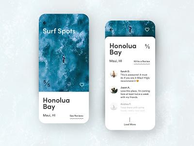 Surf Spots App surfing conceptual concept design app design comment review water surfspot surf app concept concept app
