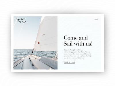 Captain Peng webdesigner webdesign sail sailing ui design water conceptual concept