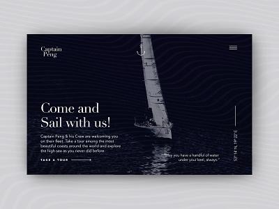 Captain Peng 2 uidesign ui sailing sail design webdesign water conceptual concept