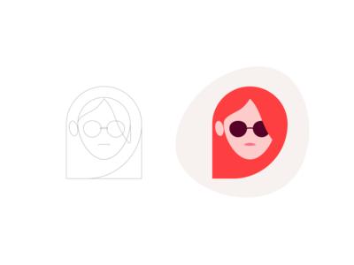 Illustration Process woman illustrator illustration head glasses girl character