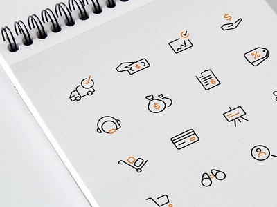 Commerce Icons line dashboard vector identity ecommerce illustrations icons icon commerce iconset