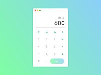 Daily UI #004 Calculator ui calculator gradien web design dailyui