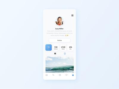 Daily UI 006 User Profile user profile profile profile page design app ui dailyui