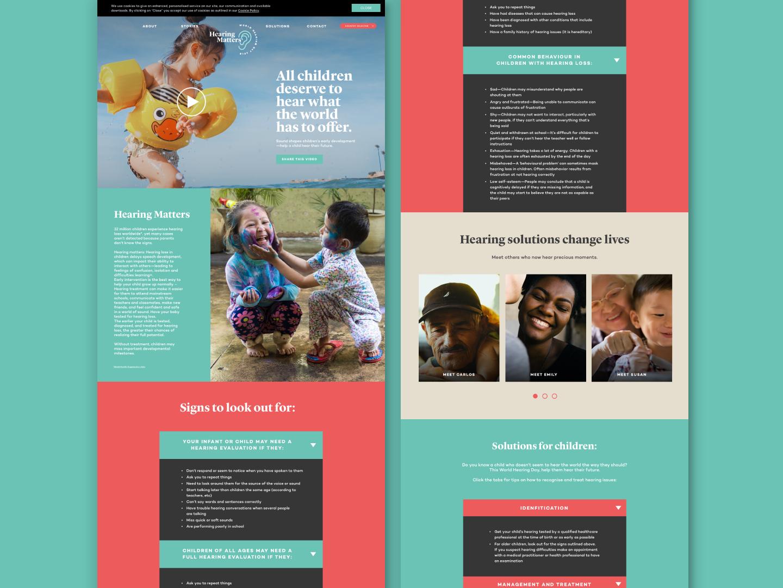 World Hearing Day 2018 | Microsite health care campaign logo typography health ui ux ui ux design branding site design desktop website