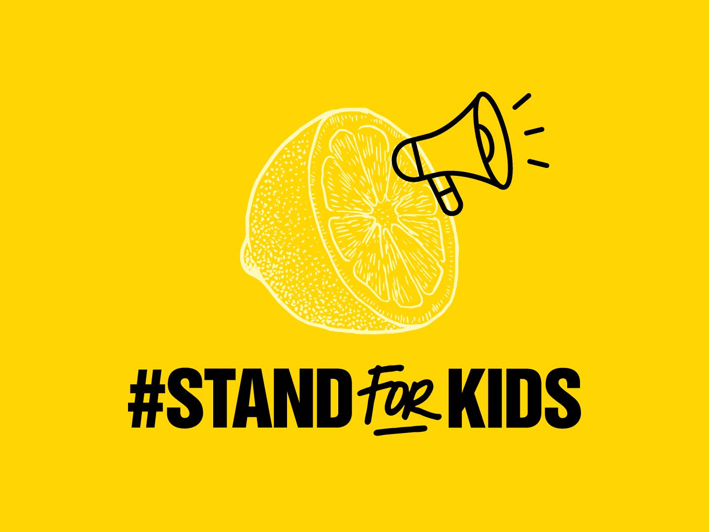 Stand For Kids illustrator design art typography social good activist social justice campaign kids border immigration families belong together stand for kids logomark wordmark illustration logo branding