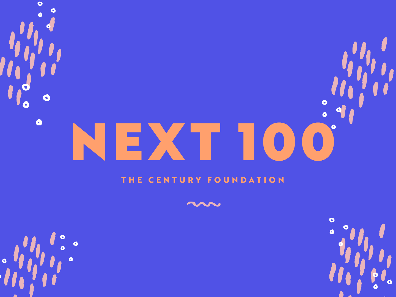 Next100 | TCF color pattern illustrator drawing art logomark typography design branding logo illustration