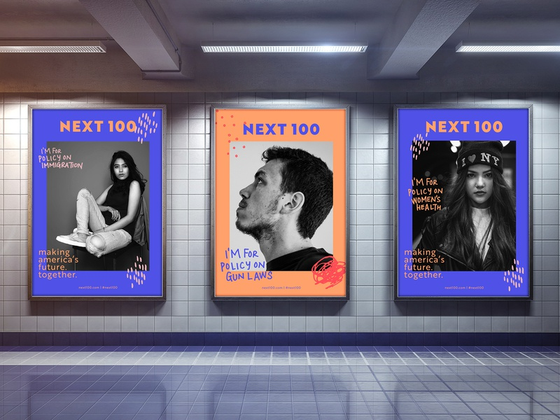 Next100   OOH photography illustration pattern handwriting hand lettering advertisement poster series subway poster ads ooh typography design branding logo