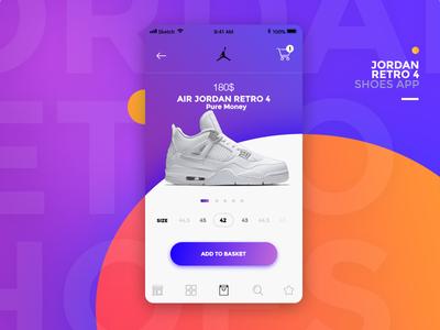Jordan Retro 4 Shoes App marcinrumierz jordan mobile store ios crean modern shop ecommerce design 7ninjas app